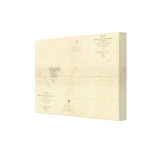 Linea Divisoria Entre Mexico 7 Canvas Print