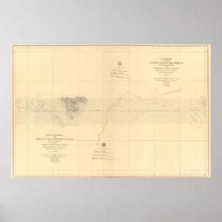 Linea Divisoria Entre México 7 Póster