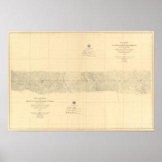 Linea Divisoria Entre México 8 Póster