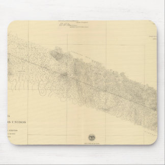 Linea Divisoria Entre Mexico 9 Mouse Pad