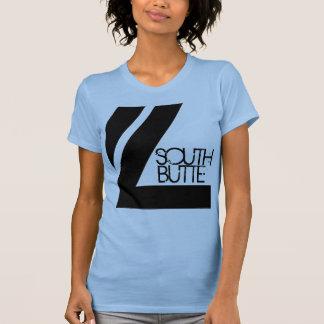 Línea doble camiseta de la mota del sur playera