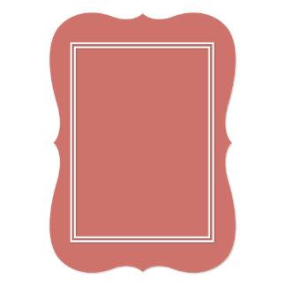 """Línea doble sombra del Pin del blanco del descenso Invitación 5"""" X 7"""""""