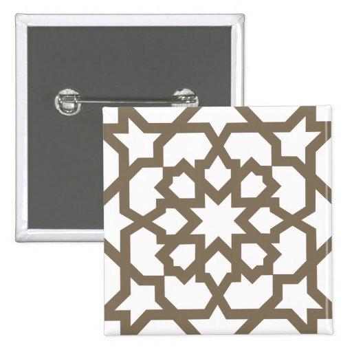 Línea dorada marroquí de mosaico en azulejos pin