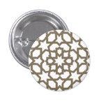 Línea dorada marroquí de mosaico en azulejos pins