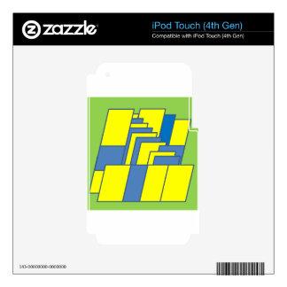 Línea ejemplo del arte iPod touch 4G skin