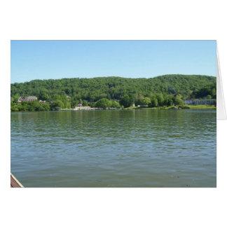 Línea el río Ohio de la orilla de Virginia Occiden Tarjeta De Felicitación