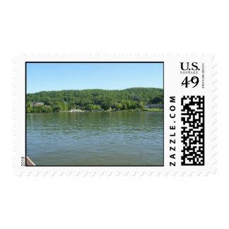 Línea el río Ohio de la orilla de Virginia Timbres Postales
