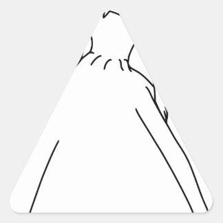 Línea elegante arte de la novia pegatina triangular