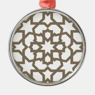 Línea en oro del patrón de mosaico de Marruecos Ornatos