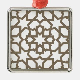 Línea en oro del patrón de mosaico de Marruecos Adorno De Reyes