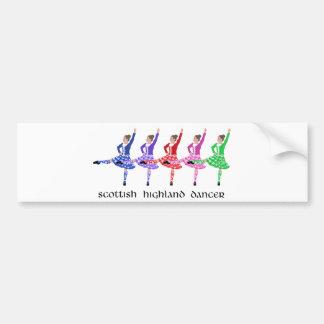 Línea escocesa de la danza de la montaña pegatina para auto