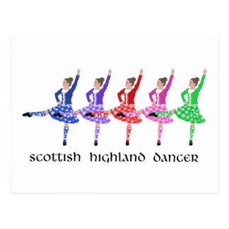 Línea escocesa de la danza de la montaña postal