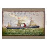 Línea espacio en blanco de Cunard del vintage de Tarjeta De Felicitación