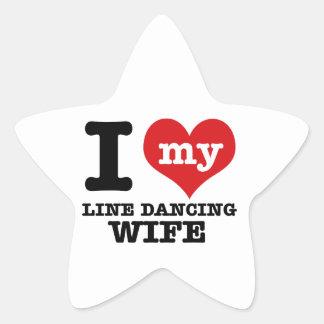 Línea esposa del baile pegatinas forma de estrellaes