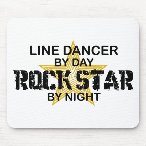 Línea estrella del rock del bailarín por noche alfombrilla de raton