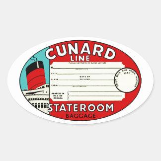 Línea etiqueta de Cunard del equipaje