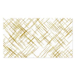 Línea falsas líneas diseño del oro de la tarjetas de visita