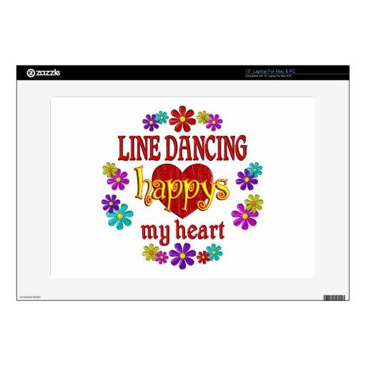 Línea feliz baile calcomanía para 38,1cm portátil