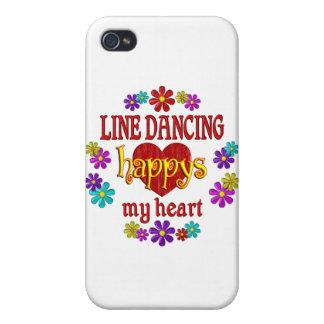 Línea feliz baile iPhone 4 funda