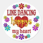 Línea feliz baile pegatinas