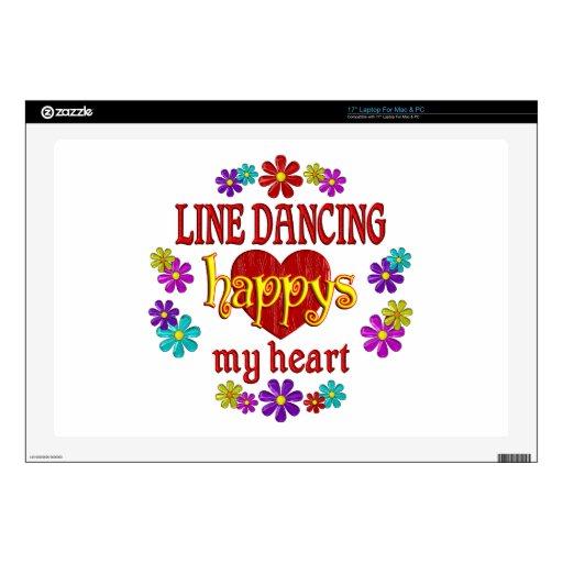 Línea feliz baile portátil skin