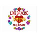 Línea feliz baile postal