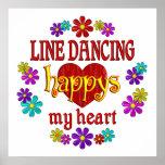 Línea feliz baile posters