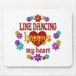 Línea feliz baile tapete de ratones