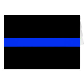 Línea fina azul de la policía tarjeta