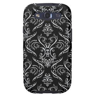 Línea fina negra y blanca modelo del Shading Samsung Galaxy S3 Cárcasas