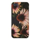"""Línea flores de """"mamá Mia"""" del Echinacea alta iPhone 5 Coberturas"""
