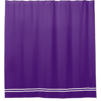 Línea frontera de doble de la cortina de ducha de cortina de baño