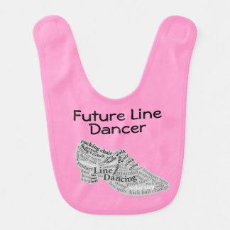 Línea futura zapato de la nube de la palabra del babero para bebé
