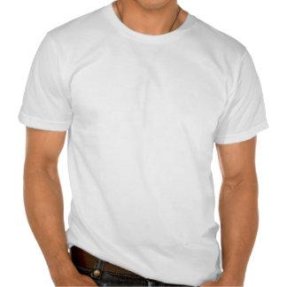 Línea Gatito-Formada oscuridad del moreno del tono Camiseta