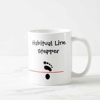 Línea habitual de pasos tazas
