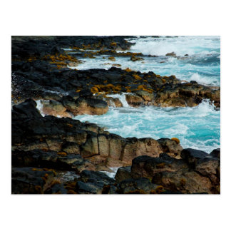 Línea hawaiana ondas de la costa del océano de la  tarjetas postales