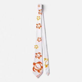 LineA Hawaii anaranjada Honu abstracto Corbatas