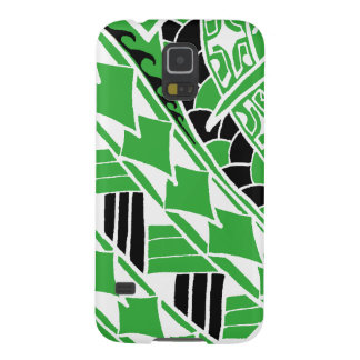 LineA Kelly Green Polynesian Tattoo Case For Galaxy S5