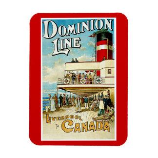 Línea Liverpool del dominio a Canadá Imanes Flexibles