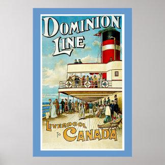 Línea ~ Liverpool del dominio a Canadá Impresiones