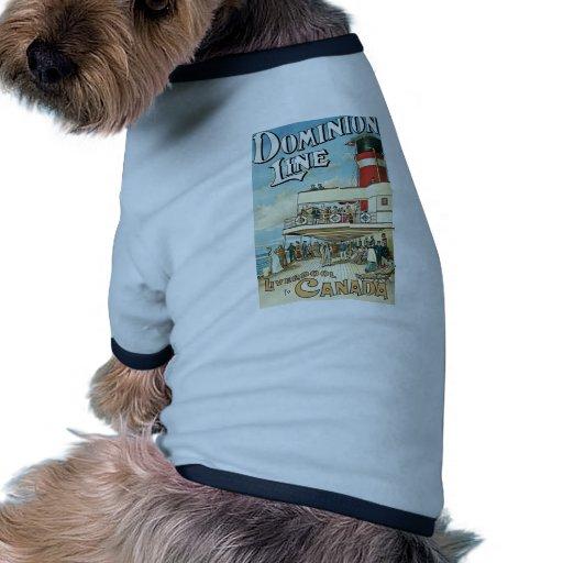 Línea Liverpool del dominio a Canadá Camisetas De Perro