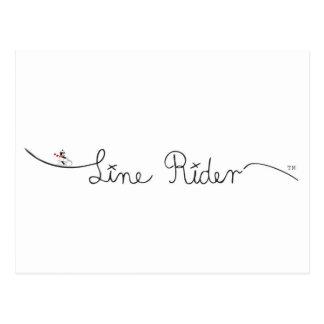 Línea logotipo de la original del jinete postales