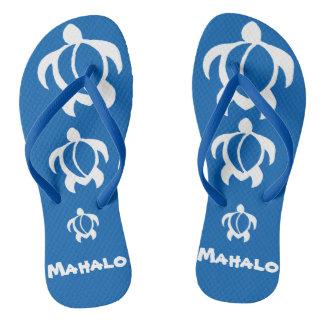LineA Mahalo White Honu Flip Flops