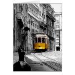 Línea maravillosa 28 de la tranvía en Lisboa Tarjetas