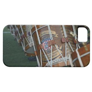 Línea militar del tambor de Estados Unidos iPhone 5 Cárcasas