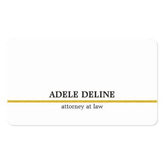 Línea minimalista abogado del oro blanco tarjetas de visita