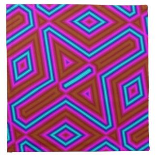 Línea modelo colorido abstracto servilleta de papel