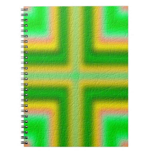 Línea modelo cruzado libro de apuntes con espiral