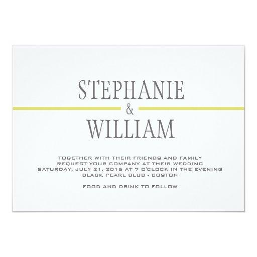 Línea moderna tarjeta de la invitación del boda en