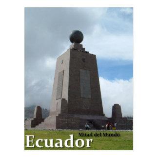Línea monumento del ecuador de Mitad del Mundo Ecu Tarjeta Postal